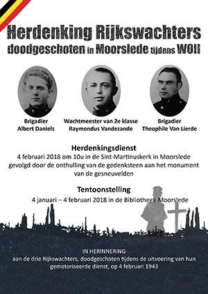 Herdenking Van De Drie Neergeschoten Rijkswachters Op 04021943
